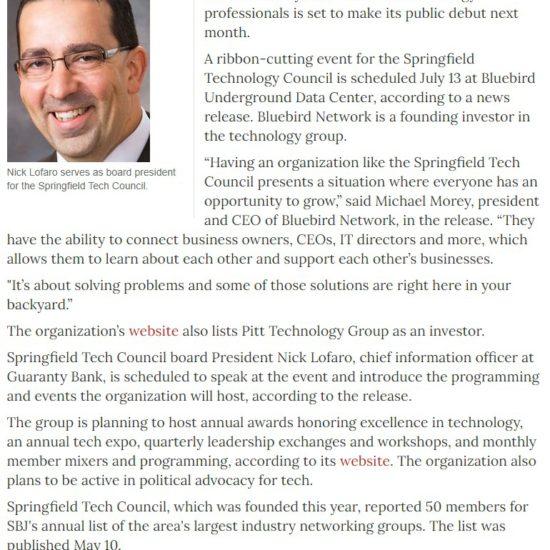 SBJ Tech Council Announcement