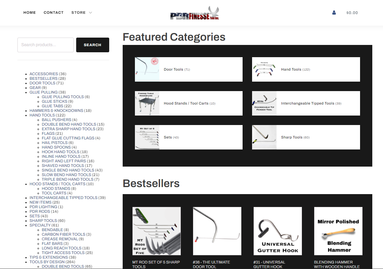 PDR Finesse homepage